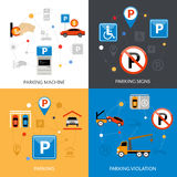 Parking Icons Set Royalty Free Stock Photography