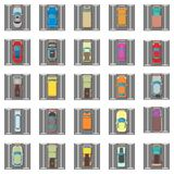Parking icons set, isometric style stock illustration