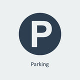 Parking ikona wektor Zdjęcia Stock