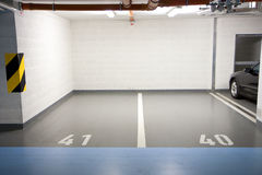 Parking In Underground Garage Royalty Free Stock Photography