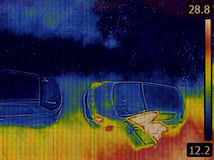 Parking Infrared Image Royalty Free Stock Image