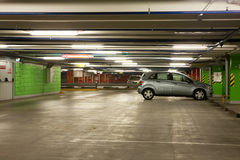 Parking interior / underground garage. Parking interior / modern underground garage Stock Photography