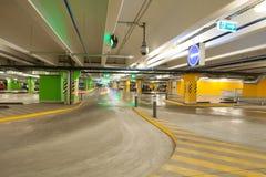 Parking interior / underground garage. Parking interior / modern underground garage Royalty Free Stock Images