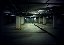 Parking interior and underground garage. Road in an parking interior / underground garage auto car park Royalty Free Stock Photography