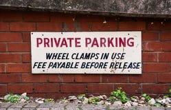 Parking intymny drogowy Ostrzeżenie Obrazy Stock