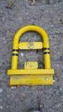 Parking jaune Photographie stock libre de droits