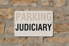 Parking for Judiciary Sign Stock Image