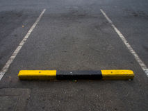 Parking lane outdoor. With concrete floor Stock Images