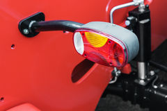 Parking lights and headlights on the tractor or other Royalty Free Stock Photo