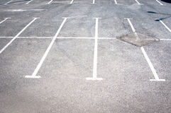 Parking lines Royalty Free Stock Photo