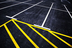 Parking lines background Royalty Free Stock Photo