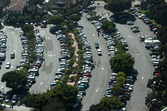 Parking Lot. Aerial view of crowded parking lot Royalty Free Stock Photos