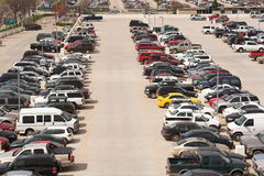 Parking Lot. High angle view of a parking lot Royalty Free Stock Photography