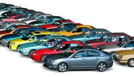Parking Lot. Cars parked in the parking lot Stock Photography