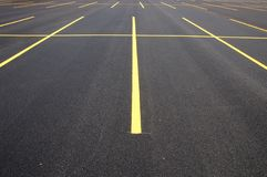 Parking lot. An clean empty parking lot stock photo