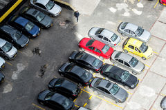 Parking Lot from Above Royalty Free Stock Photography