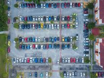 Parking Lot. Aerial View Of Parking Lot Stock Photos
