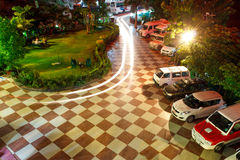 Parking lot area, night light Stock Image