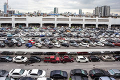 The parking lot. Bangkok there are plenty of parking spaces Stock Photography