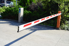 Parking lot barrier Royalty Free Stock Images