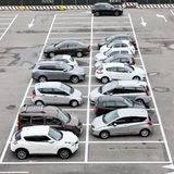 Parking lot with cars in Milan Malpensa airport. Stock Images
