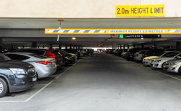 Full Parking Lot 1. Parking lot at Chadstone shopping centre is full of cars royalty free stock photography