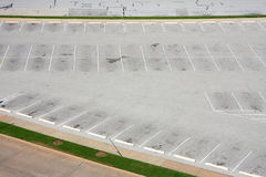 Parking lot in city. It is a parking lot beside street on day Royalty Free Stock Images