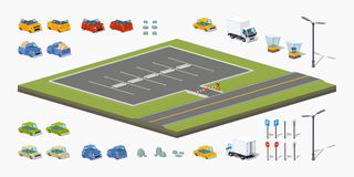 Parking lot constructor Royalty Free Stock Photography