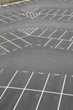 Parking lot corner section Royalty Free Stock Photography