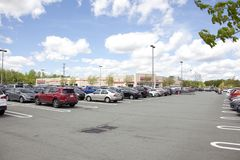 Parking lot of Costco on a weekend