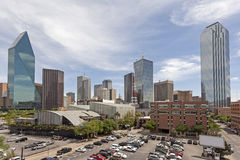 Parking lot in Dallas Downtown, USA. Parking lot in Dallas Downtown. Texas, United States Stock Images