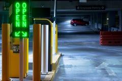 Parking Lot Entrance Royalty Free Stock Photos