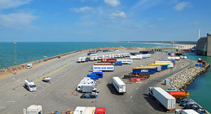 Parking lot of the ferry terminal in Hirtshals (Denmark) Royalty Free Stock Photography