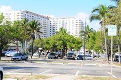 Parking lot Ft Lauderdale Beach Stock Photo