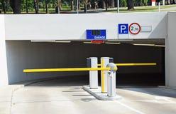 Parking lot gate Stock Photos