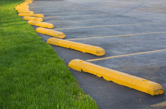 Parking lot. With grass lawn royalty free stock photo