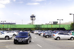 Parking Lot of Gru Airport in Sao Paulo, Brazil. Gru Airport is located in Sao Paulo and is the main airport in Brazil Royalty Free Stock Photography