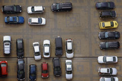 Parking lot from high above Stock Photography