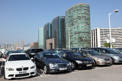 Parking lot in Hong Kong Stock Photography