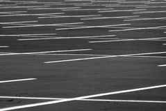 Parking Lot. A large and empty parking lot Royalty Free Stock Image