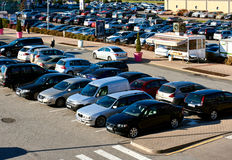 Parking lot. Latvia Stock Image