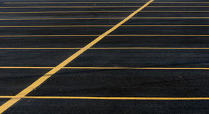 Parking Lot Lines Royalty Free Stock Photo