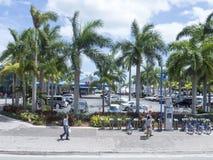 Parking lot in Little Havana, Miami Florida Royalty Free Stock Image