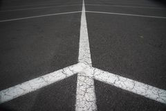 A parking lot looking from a different angle. royalty free stock image