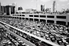 Parking lot Mo Chit. A Parking lot near Mo Chit skytrain station in Bangkok, Thailand stock images