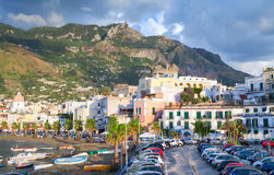 Parking lot near the port of Forio, Ischia island Royalty Free Stock Image