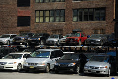 Parking Lot in New York City Stock Image