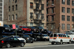 Parking lot in New York City Royalty Free Stock Images