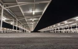 Parking lot at night Stock Image