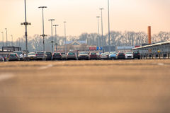 Parking lot outdoors Royalty Free Stock Images